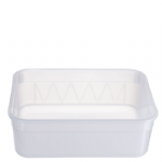 2 Ltr Natural Rectangular Container '6516'